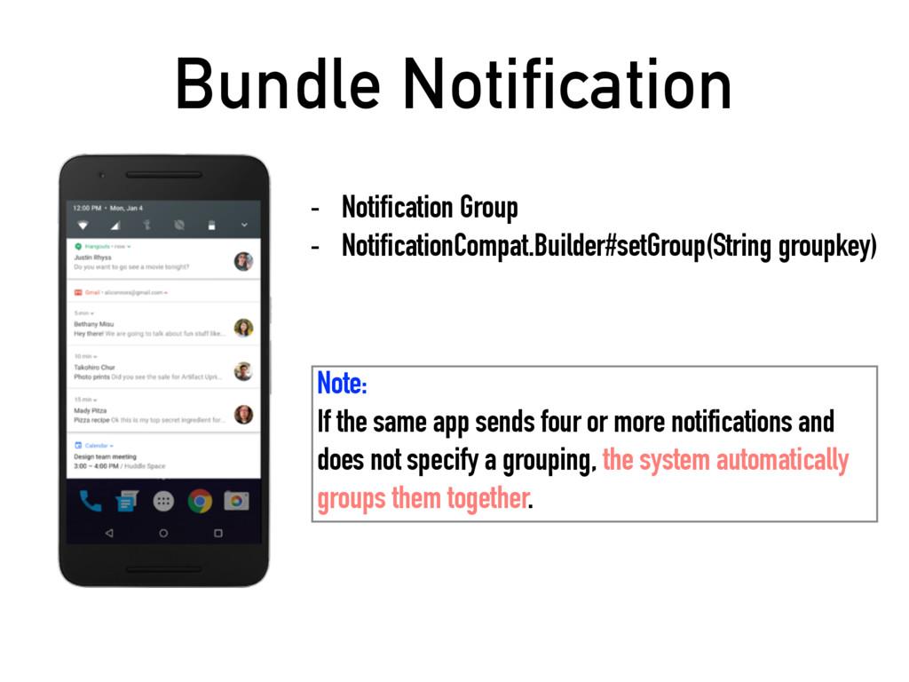 Bundle Notification - Notification Group - Noti...