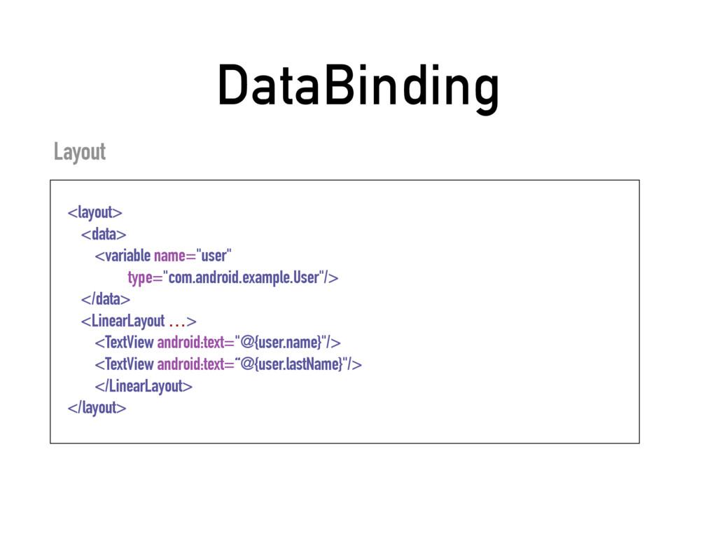 DataBinding Layout <layout> <data> <variable na...