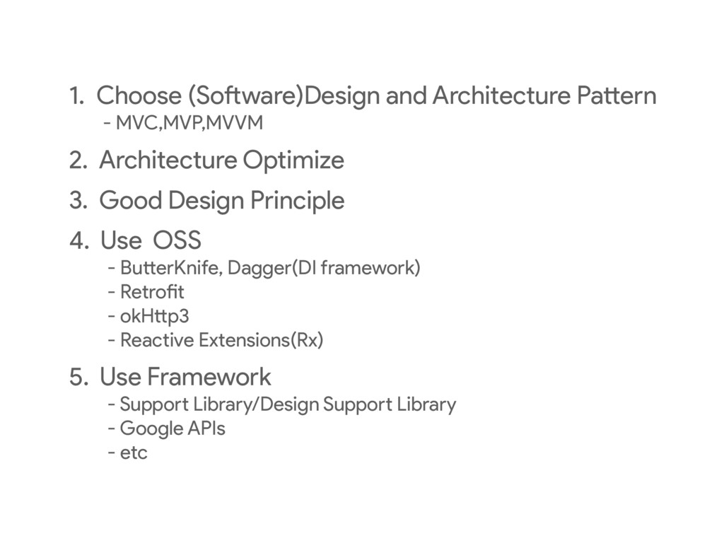 1. Choose (Software)Design and Architecture Pat...