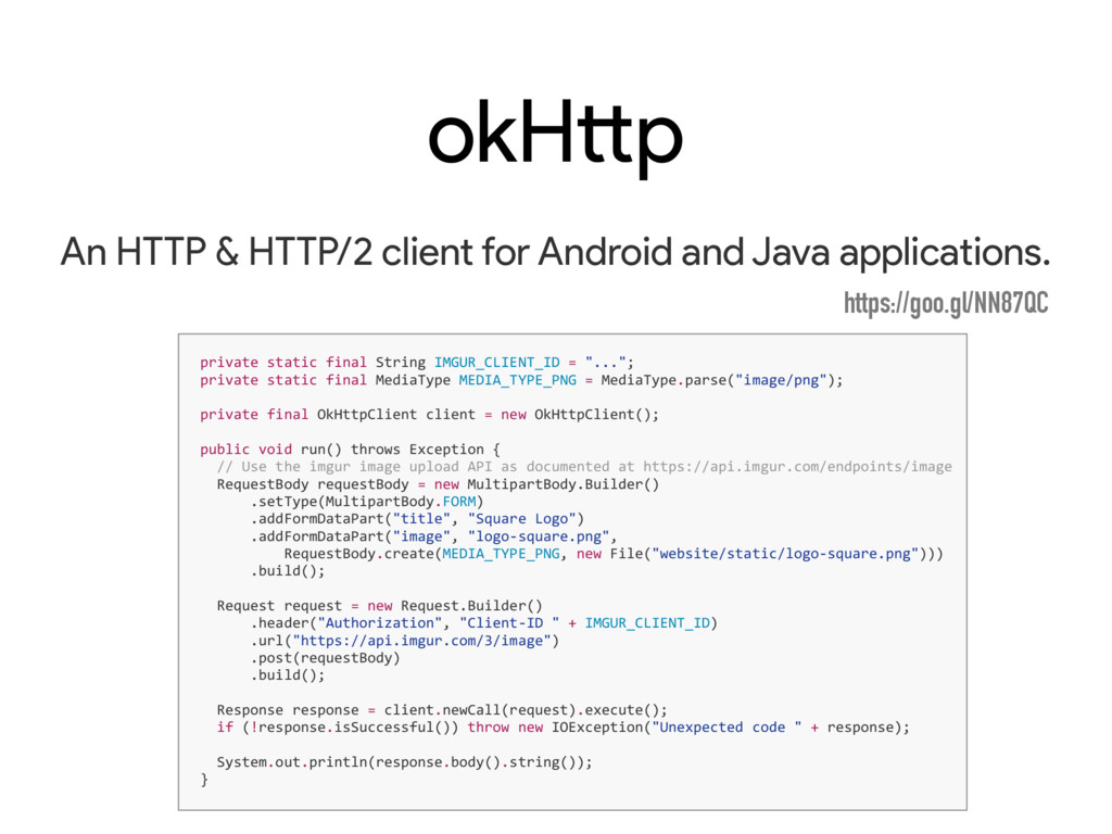 okHttp An HTTP & HTTP/2 client for Android and ...