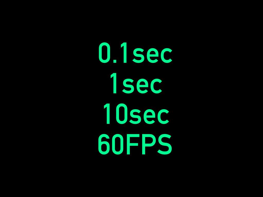 0.1sec 1sec 10sec 60FPS
