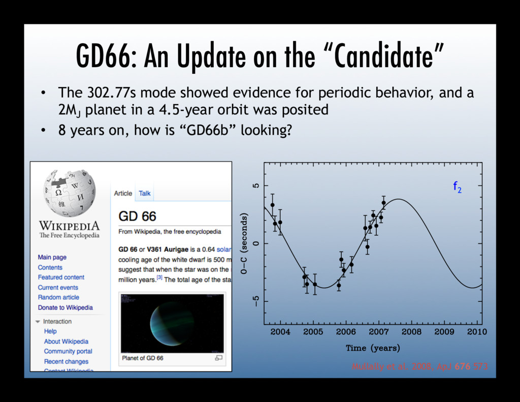 "GD66: An Update on the ""Candidate"" tructure and..."