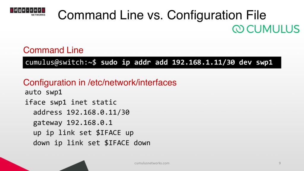 Command Line vs. Configuration File Command Lin...