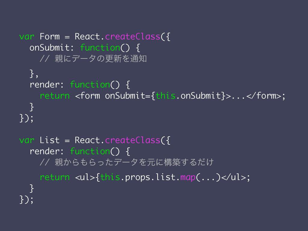 var Form = React.createClass({ onSubmit: functi...