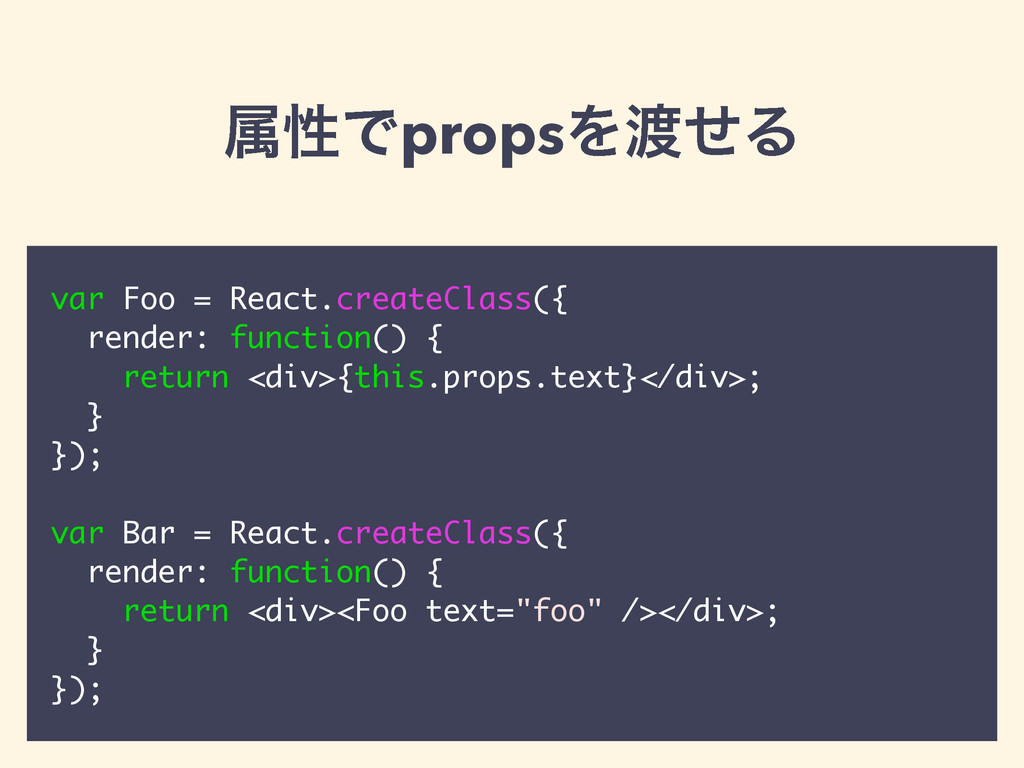 ଐੑͰpropsΛͤΔ var Foo = React.createClass({ rend...