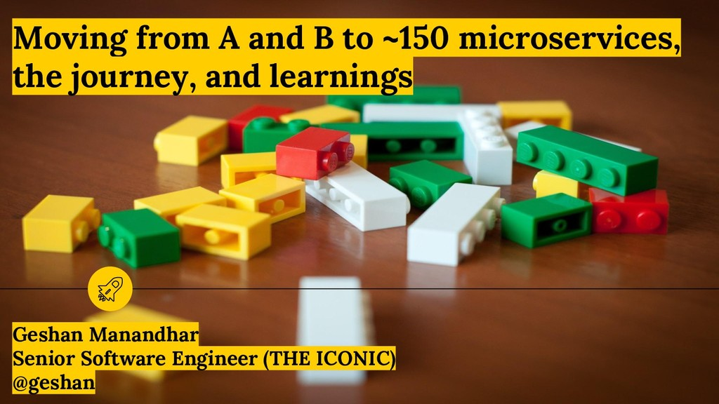 Moving from A and B to ~150 microservices, the ...