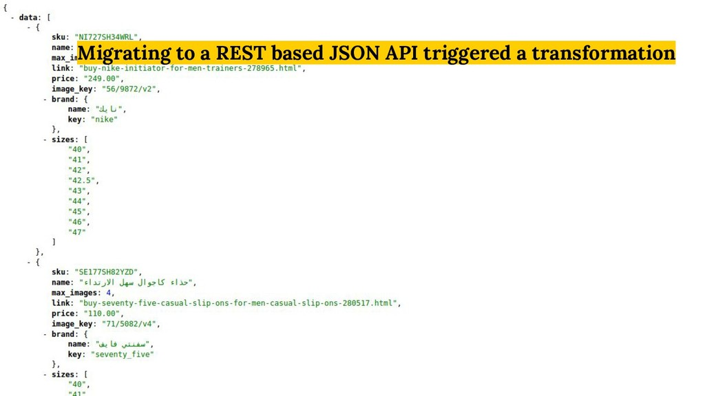 Migrating to a REST based JSON API triggered a ...