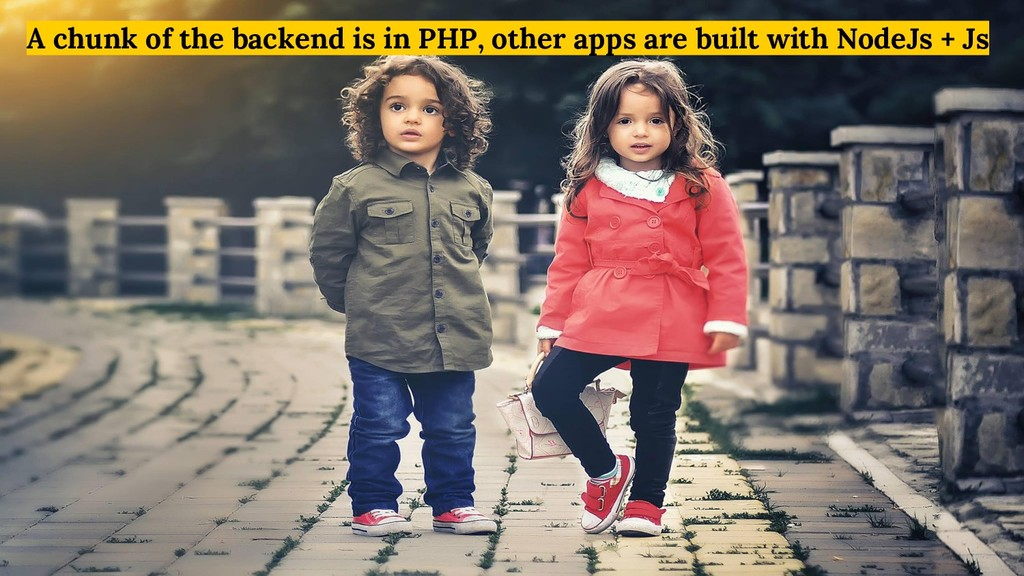 A chunk of the backend is in PHP, other apps ar...