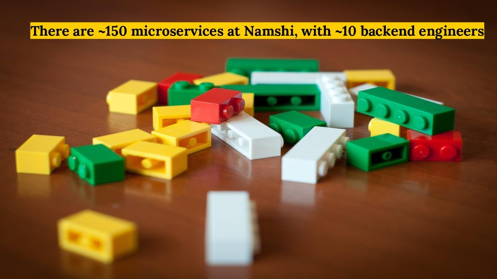 There are ~150 microservices at Namshi, with ~1...