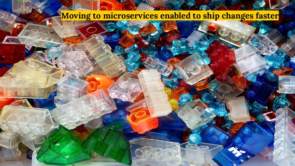Moving to microservices enabled to ship changes...