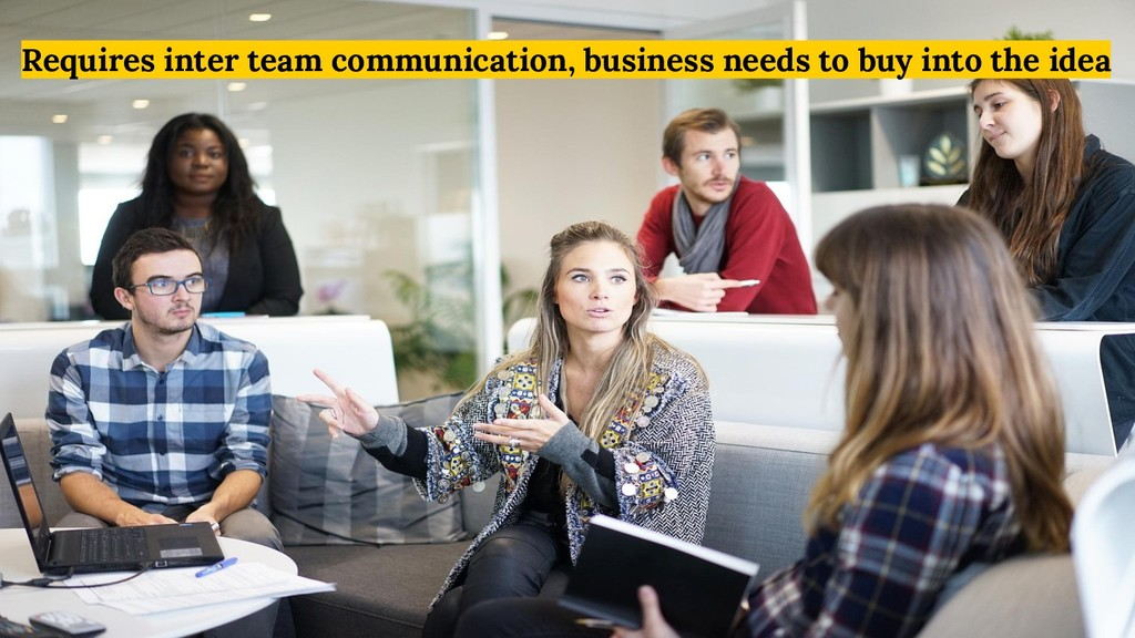 Requires inter team communication, business nee...