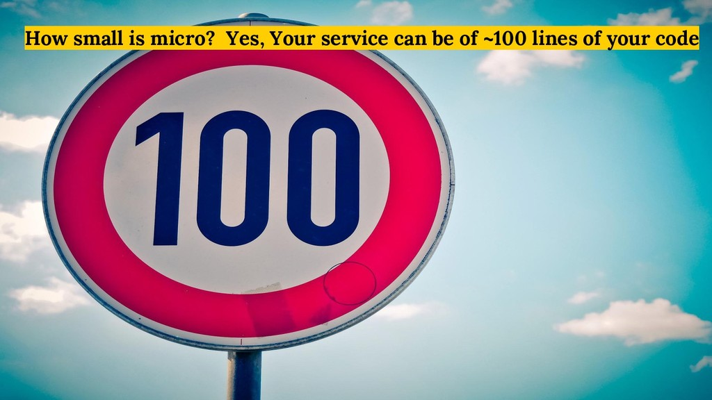 How small is micro? Yes, Your service can be of...