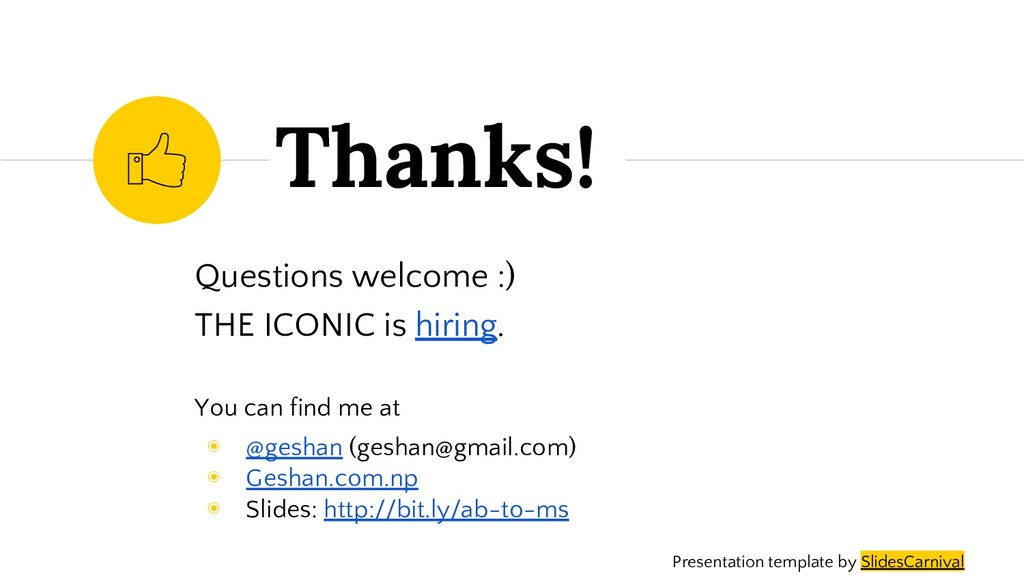 Questions welcome :) THE ICONIC is hiring. You ...