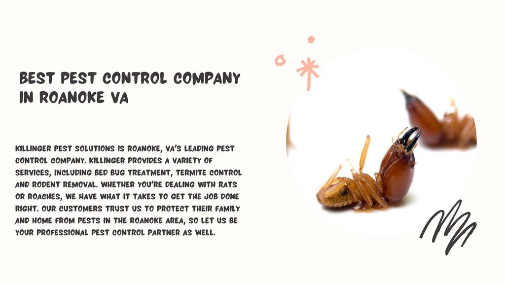 Killinger Pest Solutions is Roanoke, VA's leadi...