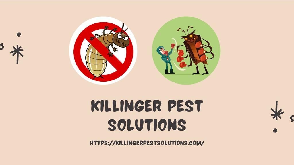 KILLINGER PEST SOLUTIONS https://killingerpests...