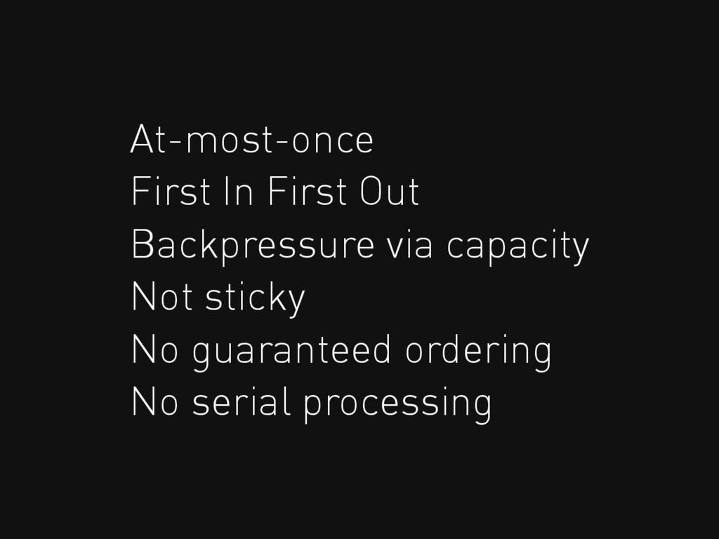At-most-once First In First Out Backpressure vi...