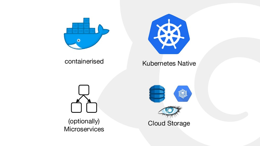 containerised Kubernetes Native (optionally)   ...
