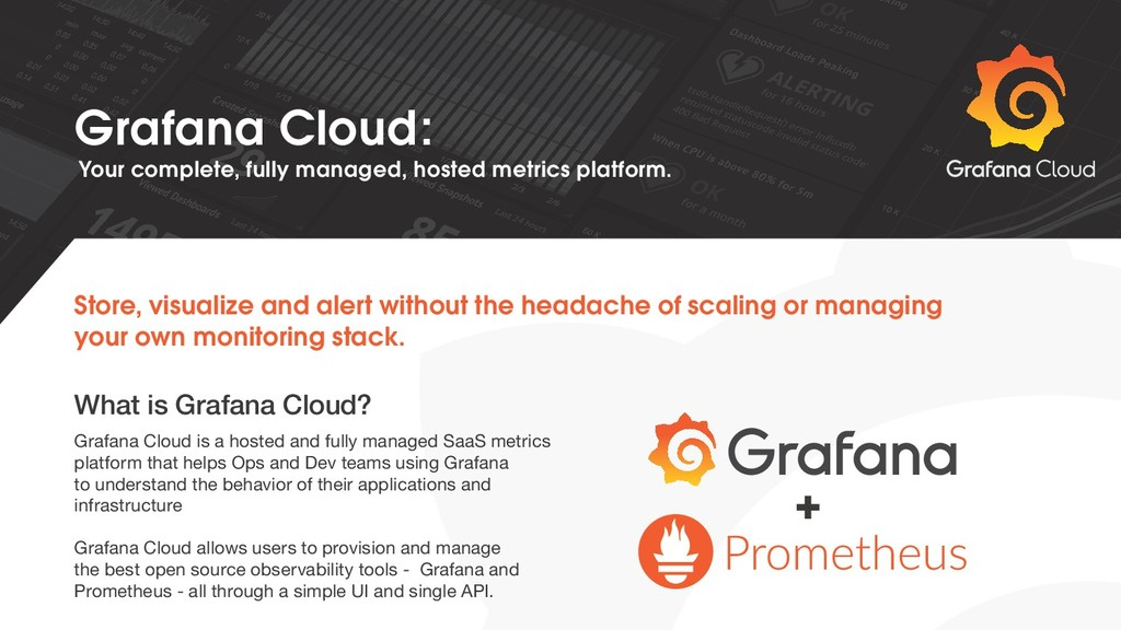 + Grafana Cloud is a hosted and fully managed S...