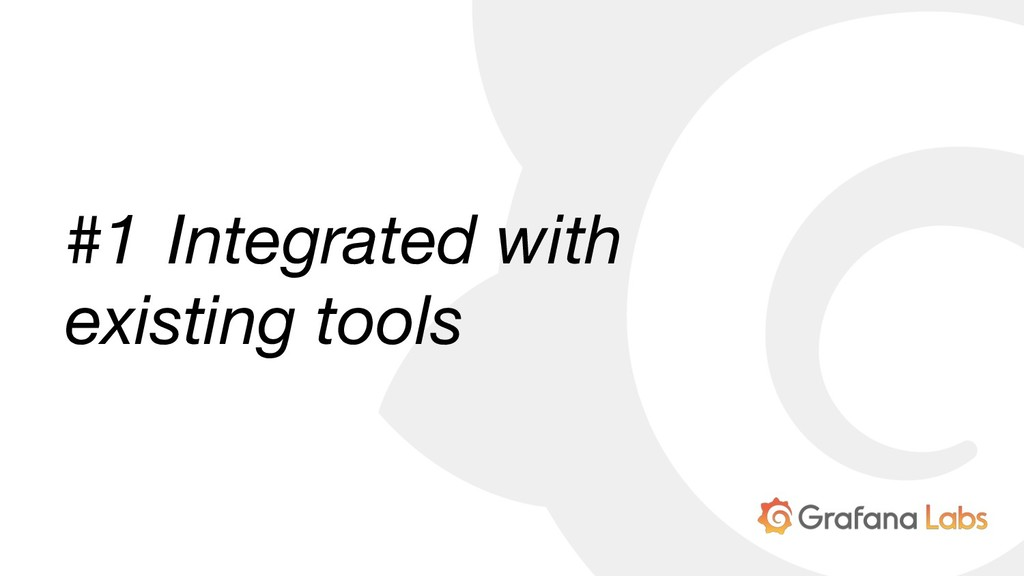 #1 Integrated with existing tools