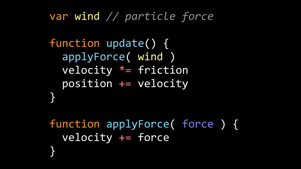 var  wind  //  particle  force   ! function  up...