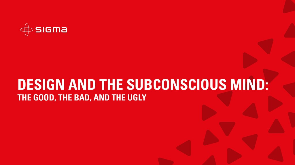 DESIGN AND THE SUBCONSCIOUS MIND: THE GOOD, THE...