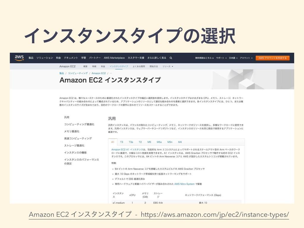 ΠϯελϯελΠϓͷબ Amazon EC2 ΠϯελϯελΠϓ - https://aws...