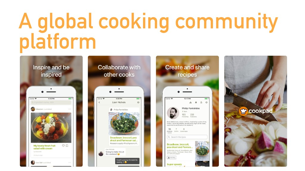 A global cooking community platform