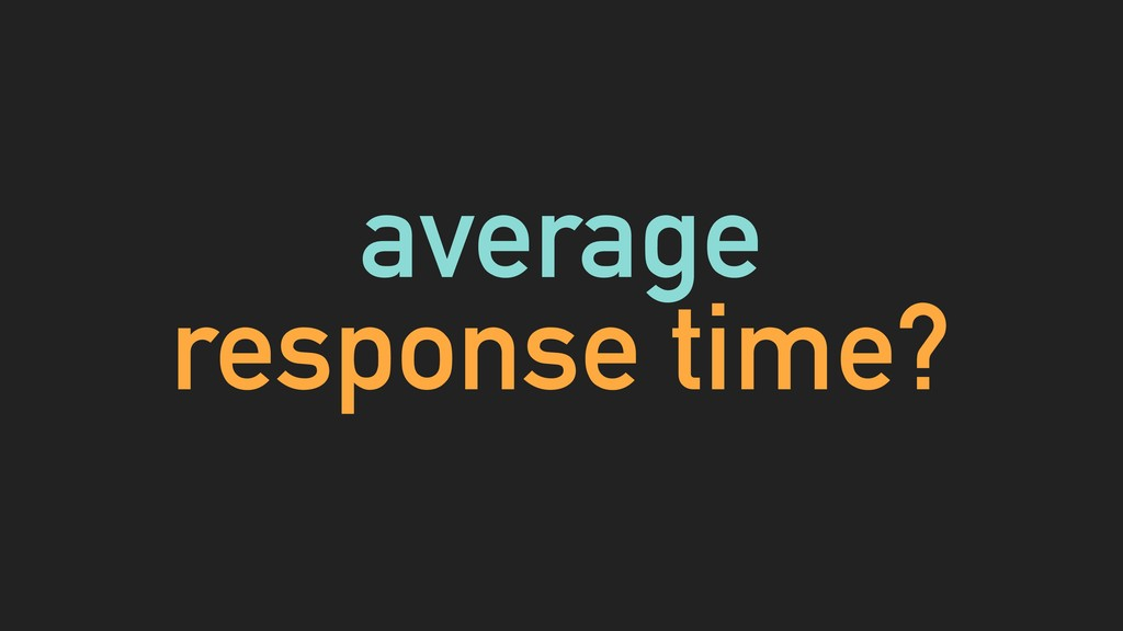 average response time?