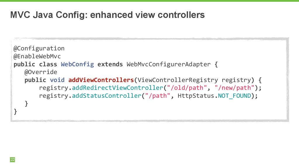 MVC Java Config: enhanced view controllers 22 !...