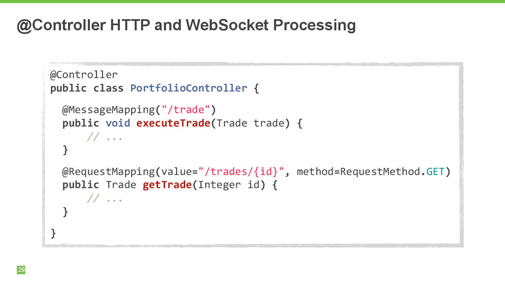 @Controller HTTP and WebSocket Processing 29 @C...