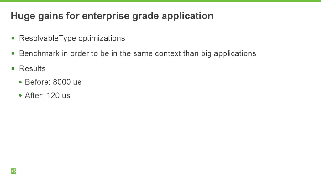 Huge gains for enterprise grade application 45 ...
