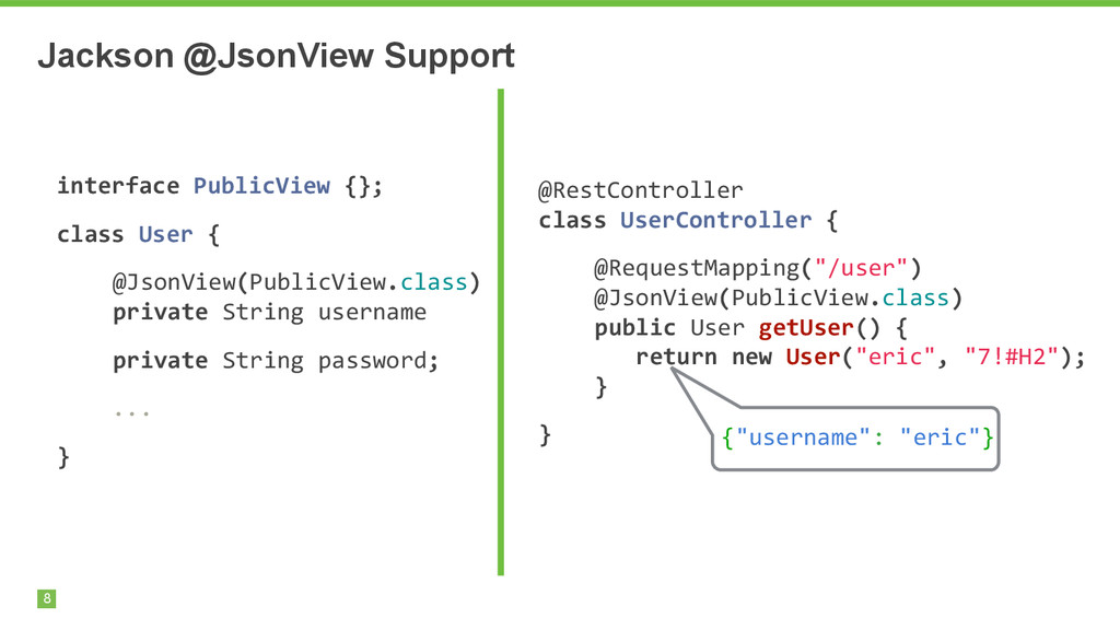 Jackson @JsonView Support 8 interface	