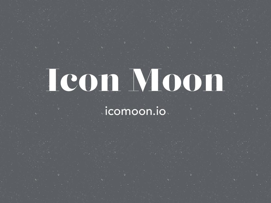 Icon Moon icomoon.io