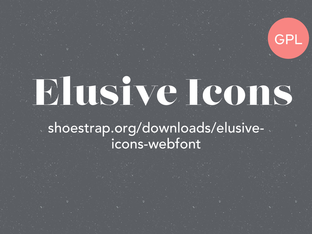 Elusive Icons shoestrap.org/downloads/elusive- ...
