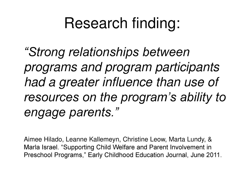 "Research finding: ""Strong relationships between..."