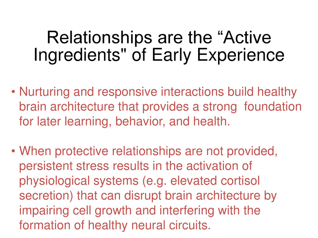 "Relationships are the ""Active Ingredients"" of E..."