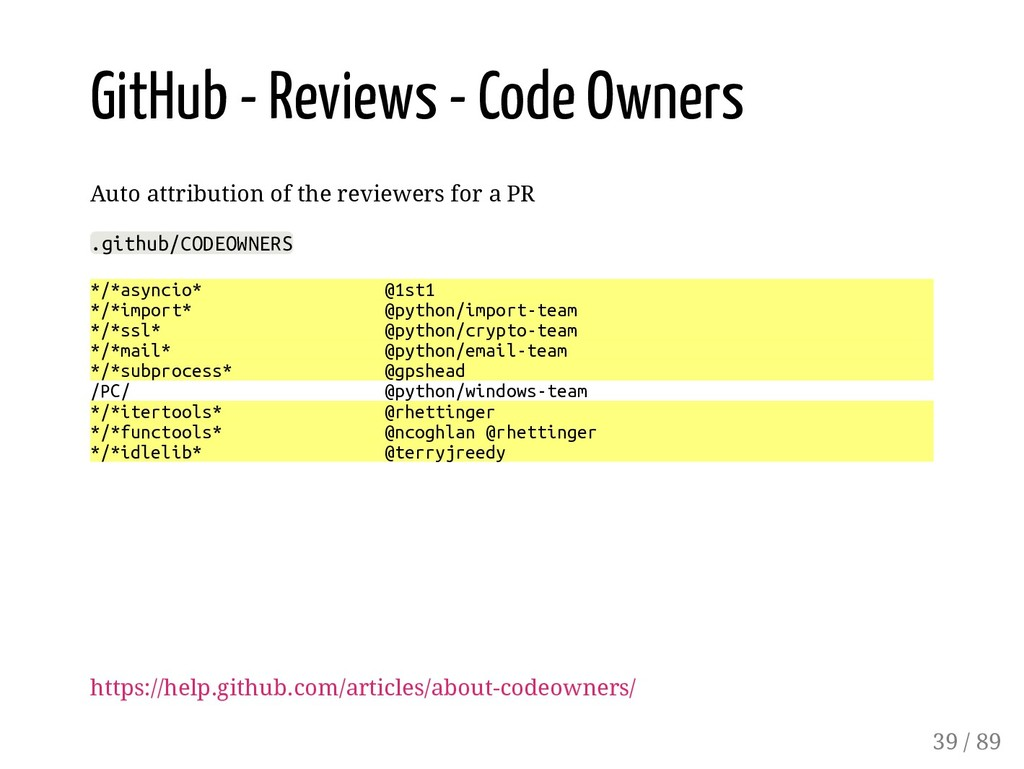 GitHub - Reviews - Code Owners Auto attribution...