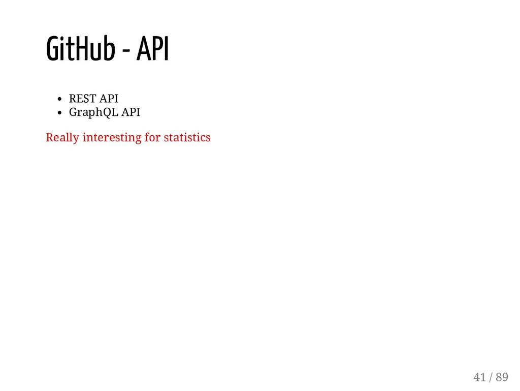 GitHub - API REST API GraphQL API Really intere...