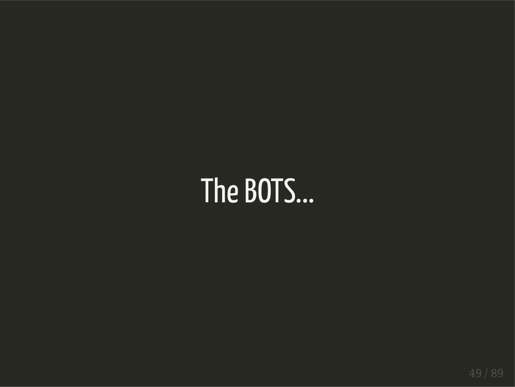 The BOTS... 49 / 89