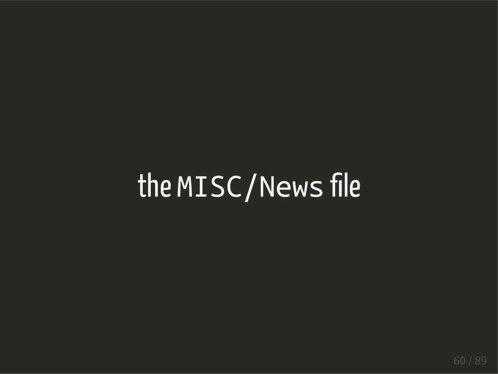 the MISC/News le 60 / 89