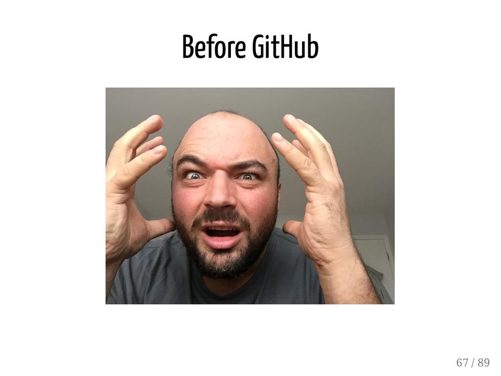 Before GitHub 67 / 89