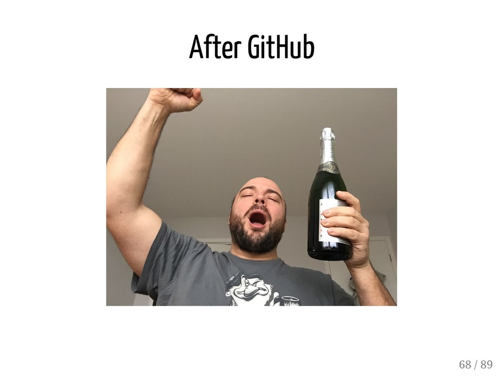 After GitHub 68 / 89