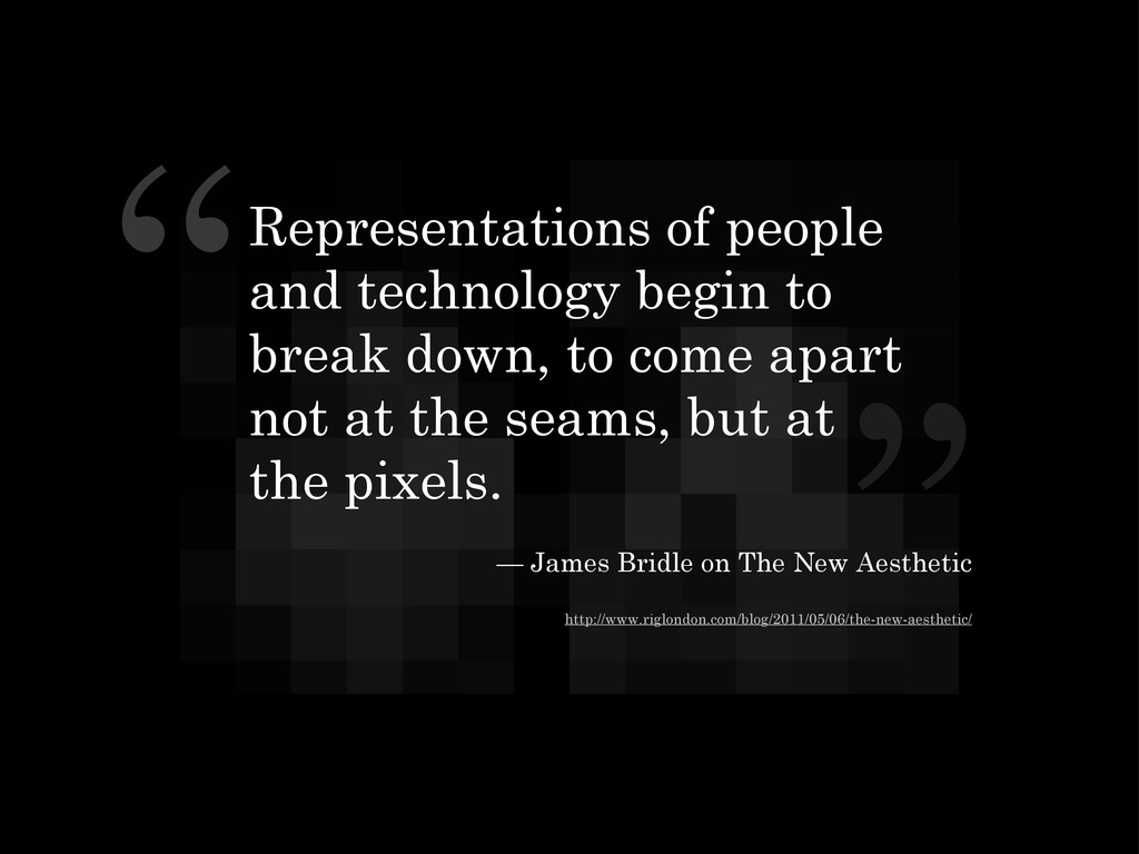 """ "" Representations of people and technology be..."