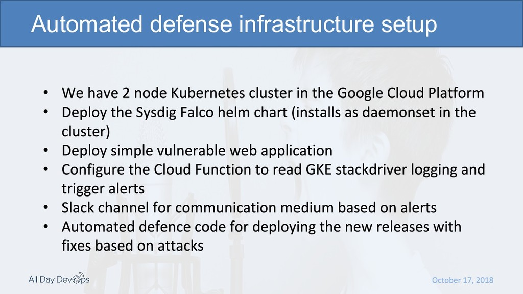 • • • • • • Automated defense infrastructure se...