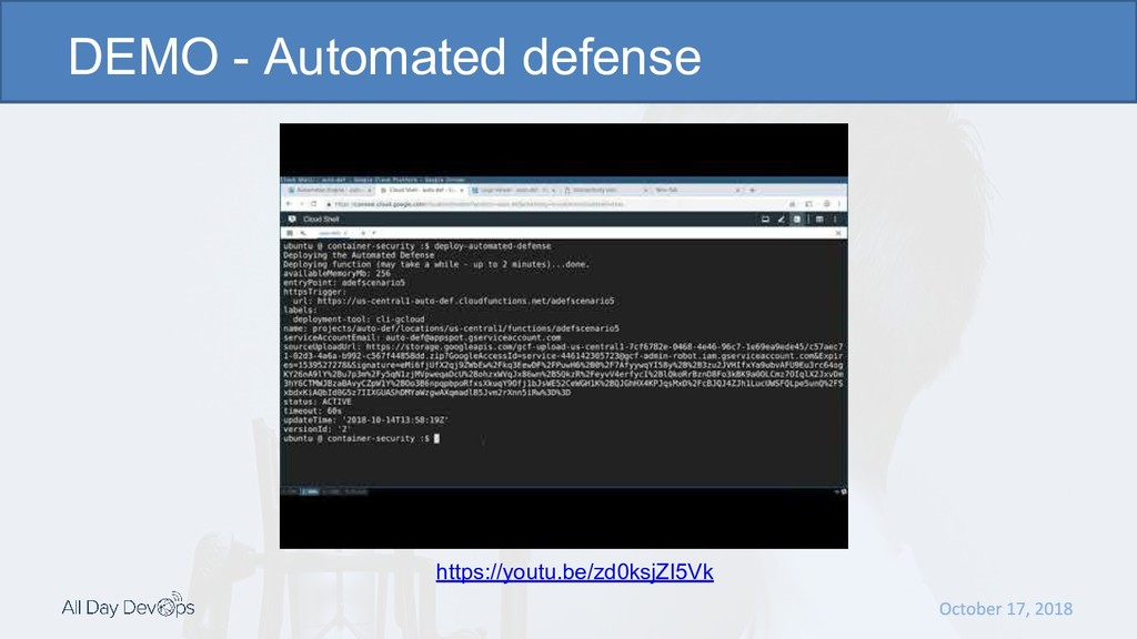 DEMO - Automated defense https://youtu.be/zd0ks...