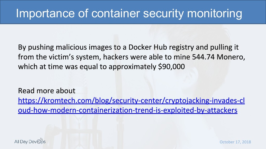 Importance of container security monitoring