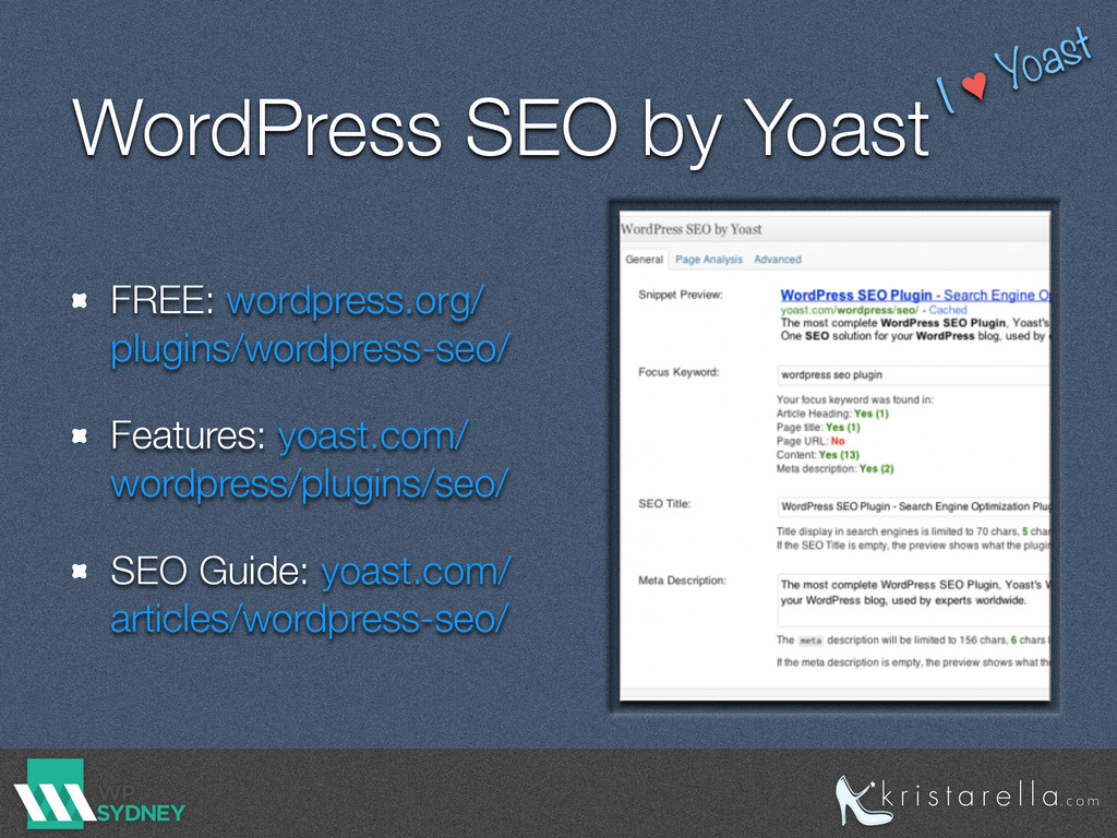 WordPress SEO by Yoast FREE: wordpress.org/ plu...