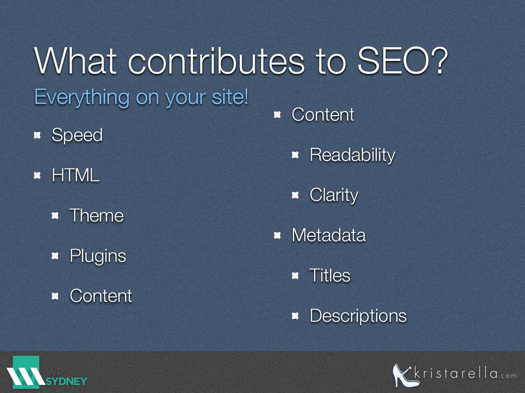 What contributes to SEO? Speed HTML Theme Plugi...