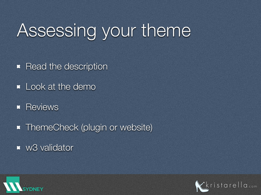Assessing your theme Read the description Look ...