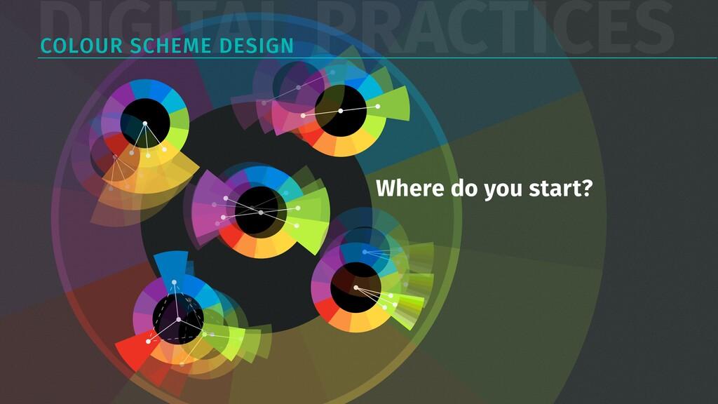 DIGITAL PRACTICES COLOUR SCHEME DESIGN Where do...